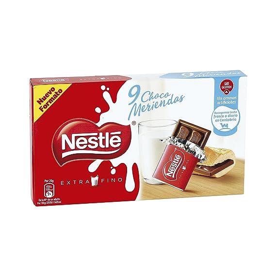 Nestlé Extrafino Choco Meriendas Chocolate con Leche Estuche - 180 gr
