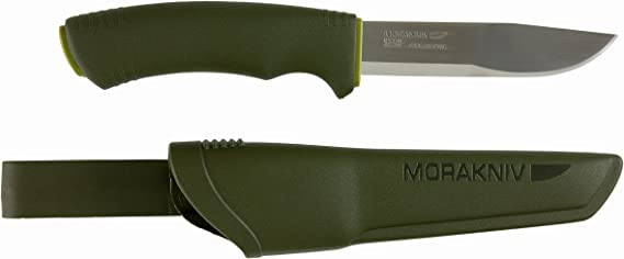 Morakniv Bushcraft Forest Fixed Blade Outdoor Knife with Sandvik Stainless Steel Blade