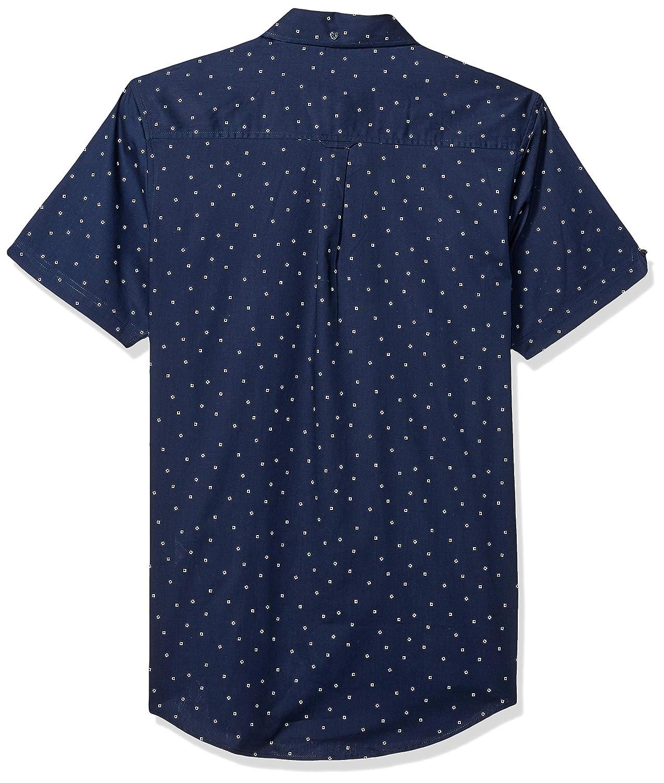 Ben Sherman Mens Ss Mini Box Print Shirt
