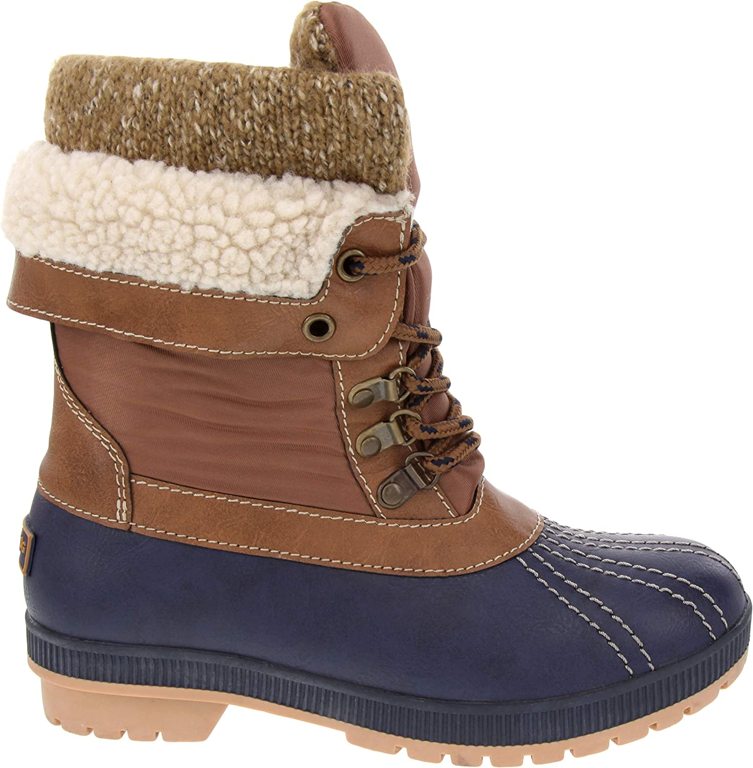 | LONDON FOG Womens Mitten Cold Weather Duck Boot for Snow | Snow Boots