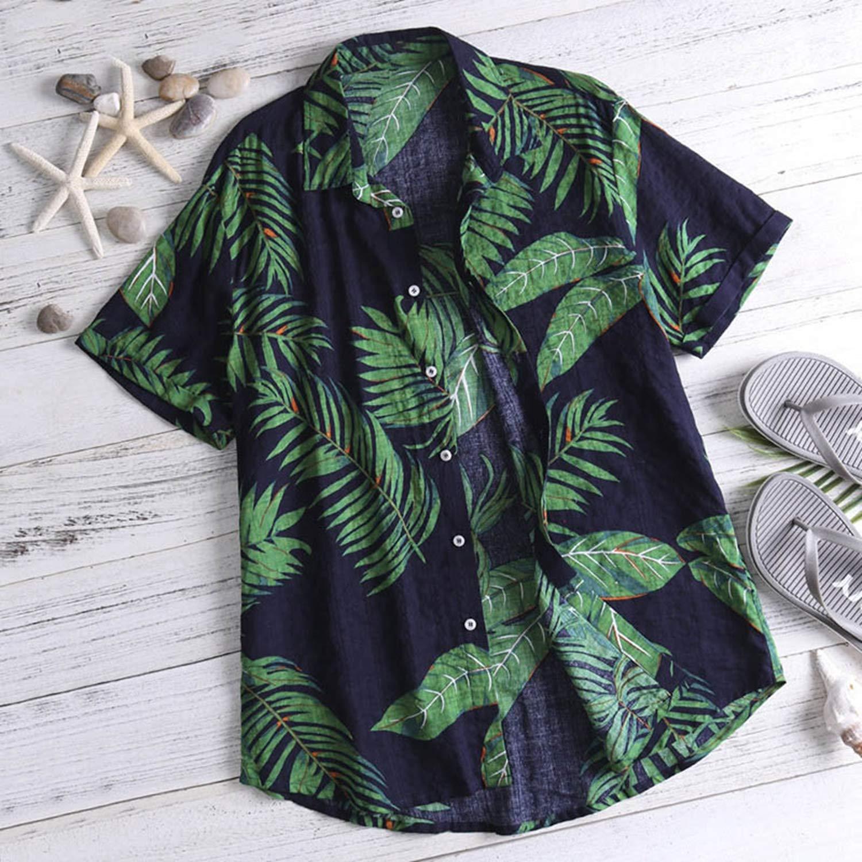 Summer Print Men Hawaiian Shirt Short Sleeve Streetwear Tops Casual Holiday Women Beach Shirts 2019