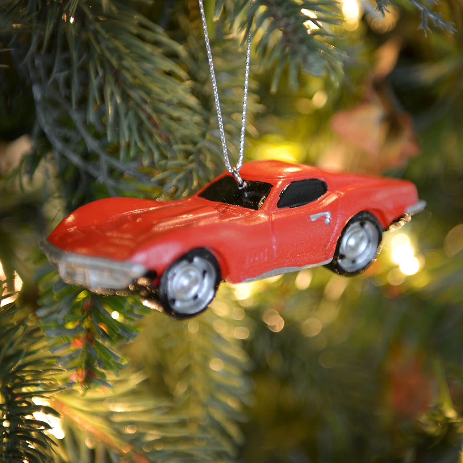 Kurt Adler Chevrolet LIttle Red Corvette Christmas Ornament by Kurt ...