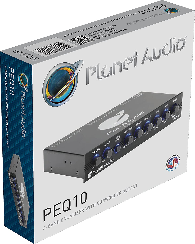 Planet Audio Half-DIN Subwoofer Output with Adjustable Filter Fixed Bands Band Car Equalizer
