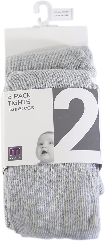 Unisex Infantil Pack de 2 Melton Medias