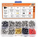 HELIFOUNER 360 Pieces Computer Standoffs Screws Assortment Kit for Hard Drive Computer Case Motherboard Fan Power…