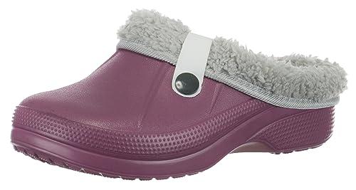 986f9a13d2d1 Brandsseller - Pantofole imbottite per bambini, zoccoli da giardino, da  casa, Viola (