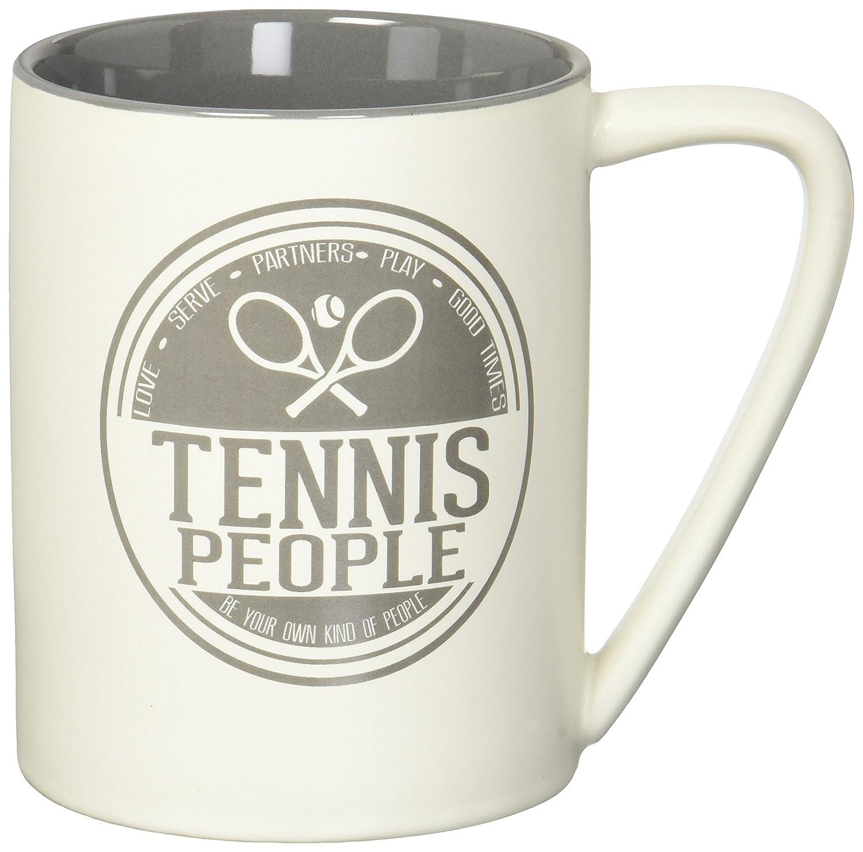 Pavilion Gift Company 67355 Tennis Coffee Mugs Gray