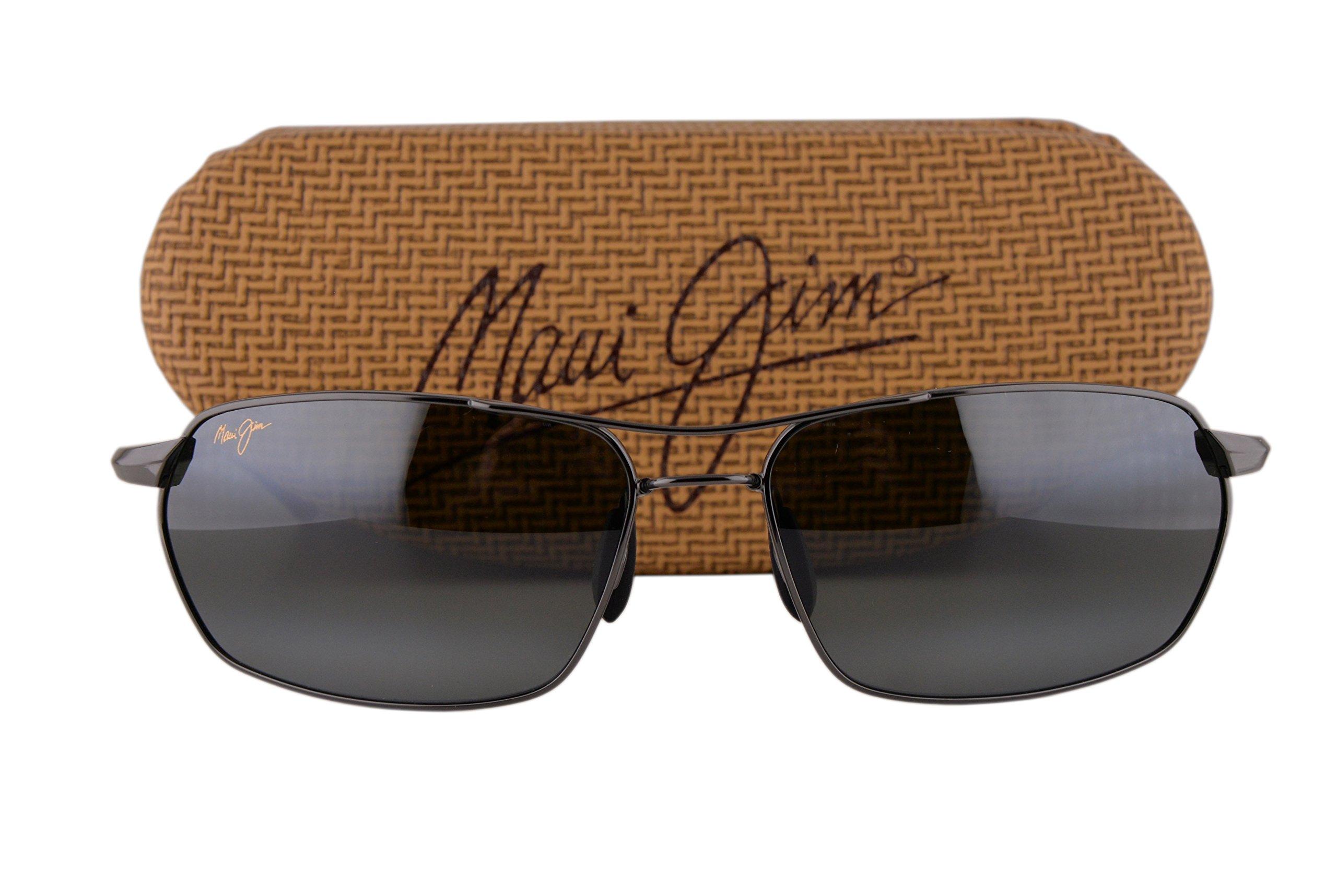 Maui Jim Maliko Gulch Sunglasses Gunmetal w/Polarized Natural Gray Lens 32402D
