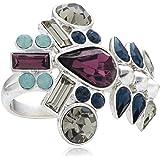 Pilgrim Jewelry Women's Ring Brass Ring Silver Anniversary 191336204 / Blue 3.0 CM