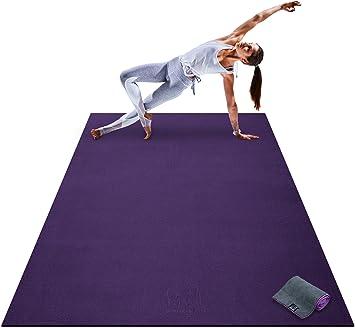 Amazon.com: Esterilla de yoga premium grande – 7 pies x 5 ...