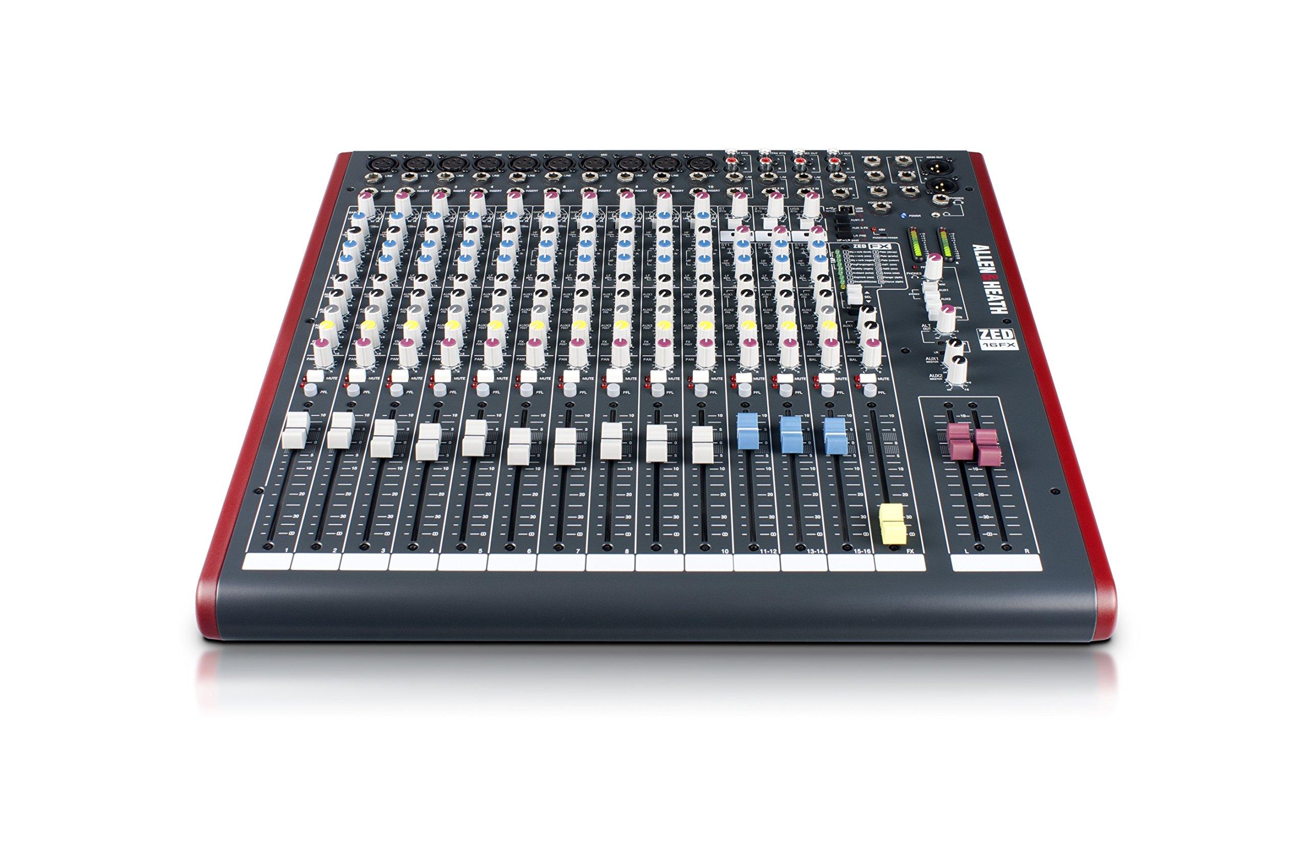 Allen & Heath ZED-16FX 16-Channel Multi-Purpose USB Mixer with FX for Live Sound and Recording by Allen & Heath (Image #3)