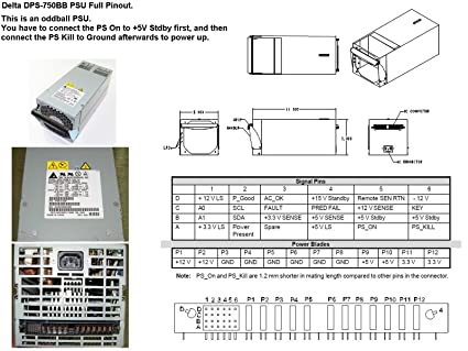 Amazon com: DELTA DPS-750BB 750Watt hotswap power supply: Computers
