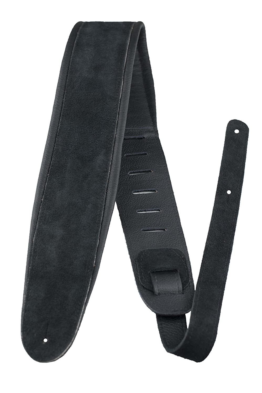 Perri's APSDX-1600 2.5inch BLACK SUEDE W/LEATHER PADDING   B00CKH1QRM