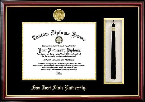 Campus Images Ca929pmhgt San Jose State University Tassel Box And Diploma Frame 8 5 X 11