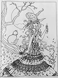 entrevista roseanne coloring pages | Halloween Coloring Book: by Molly Harrison: Molly Harrison ...