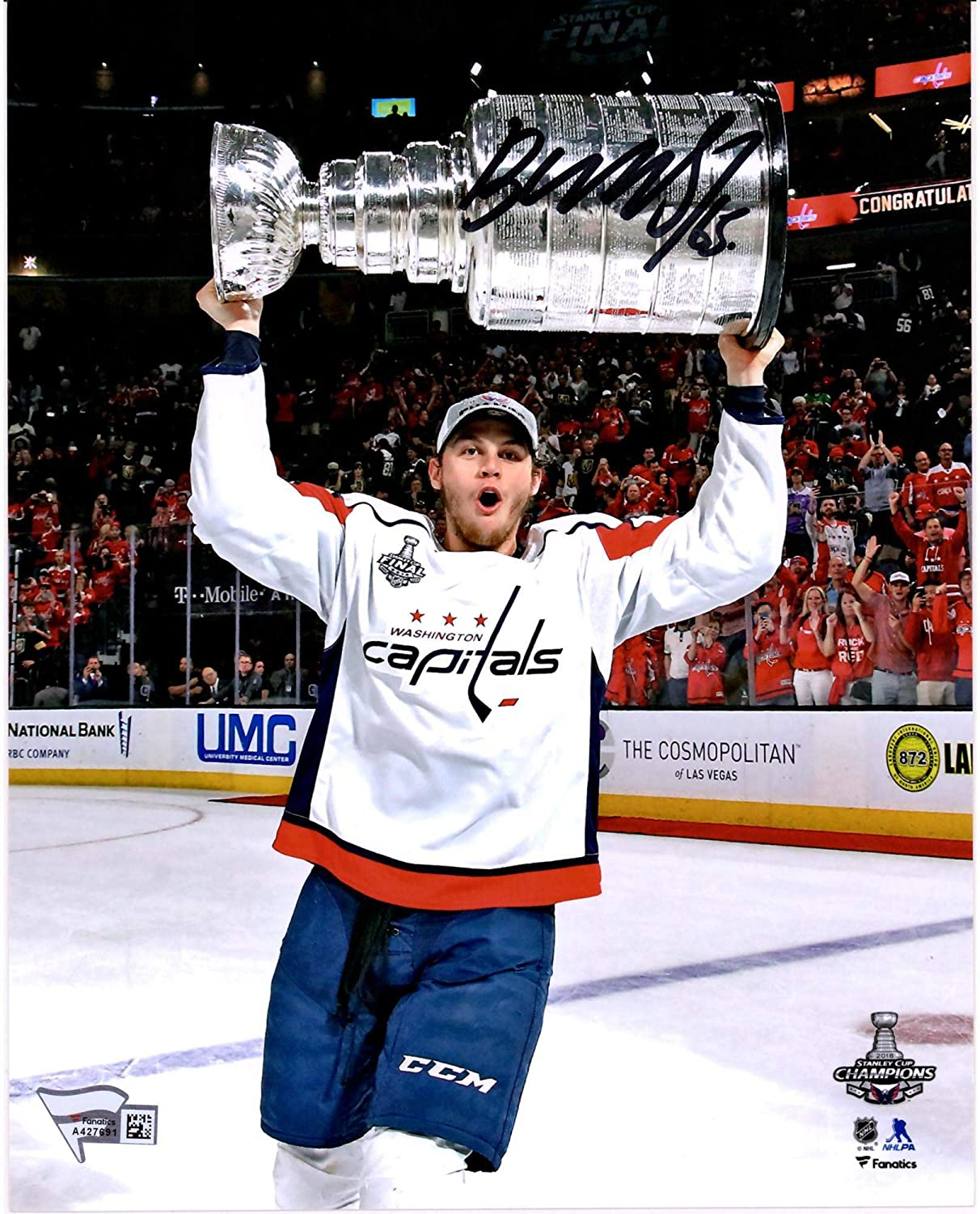 Andre Burakovsky Washington Capitals 2018 Stanley Cup Champions Autographed  8