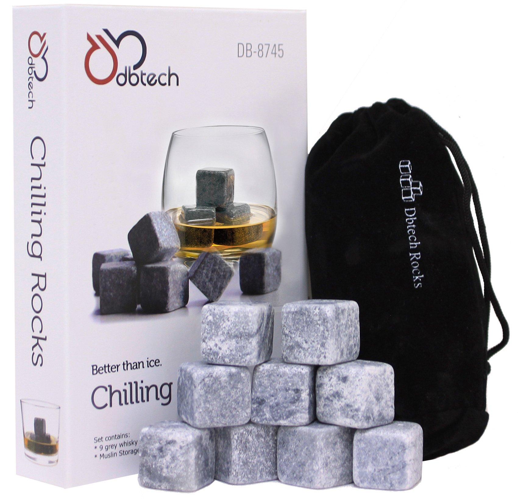 DB-Tech Whisky Chilling Rocks Gift Set,Grey - Set of 9 by DBTech