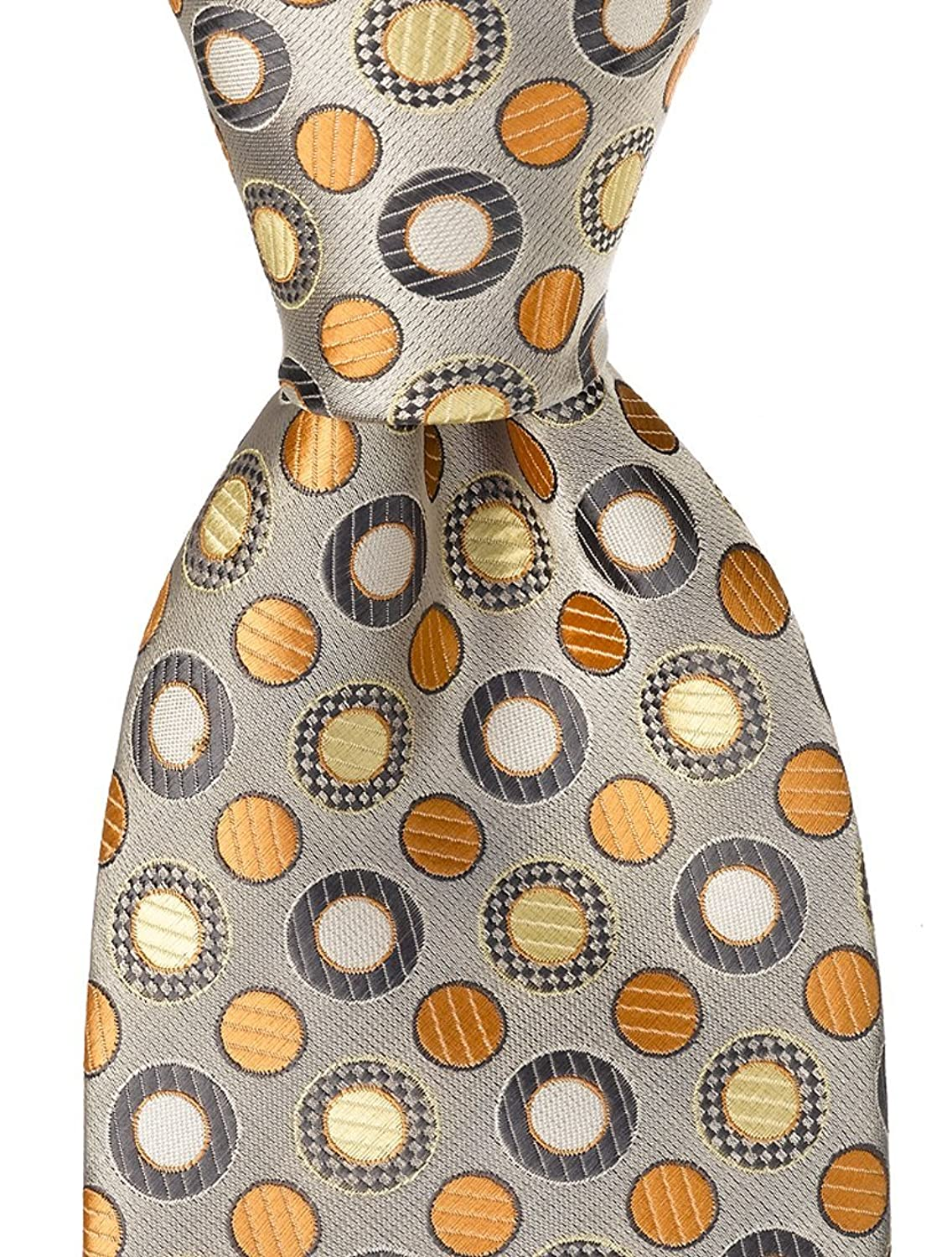 1960s – 70s Men's Ties | Skinny Ties, Slim Ties Scott Allan Mens Polka Dot Necktie - Silver $11.99 AT vintagedancer.com