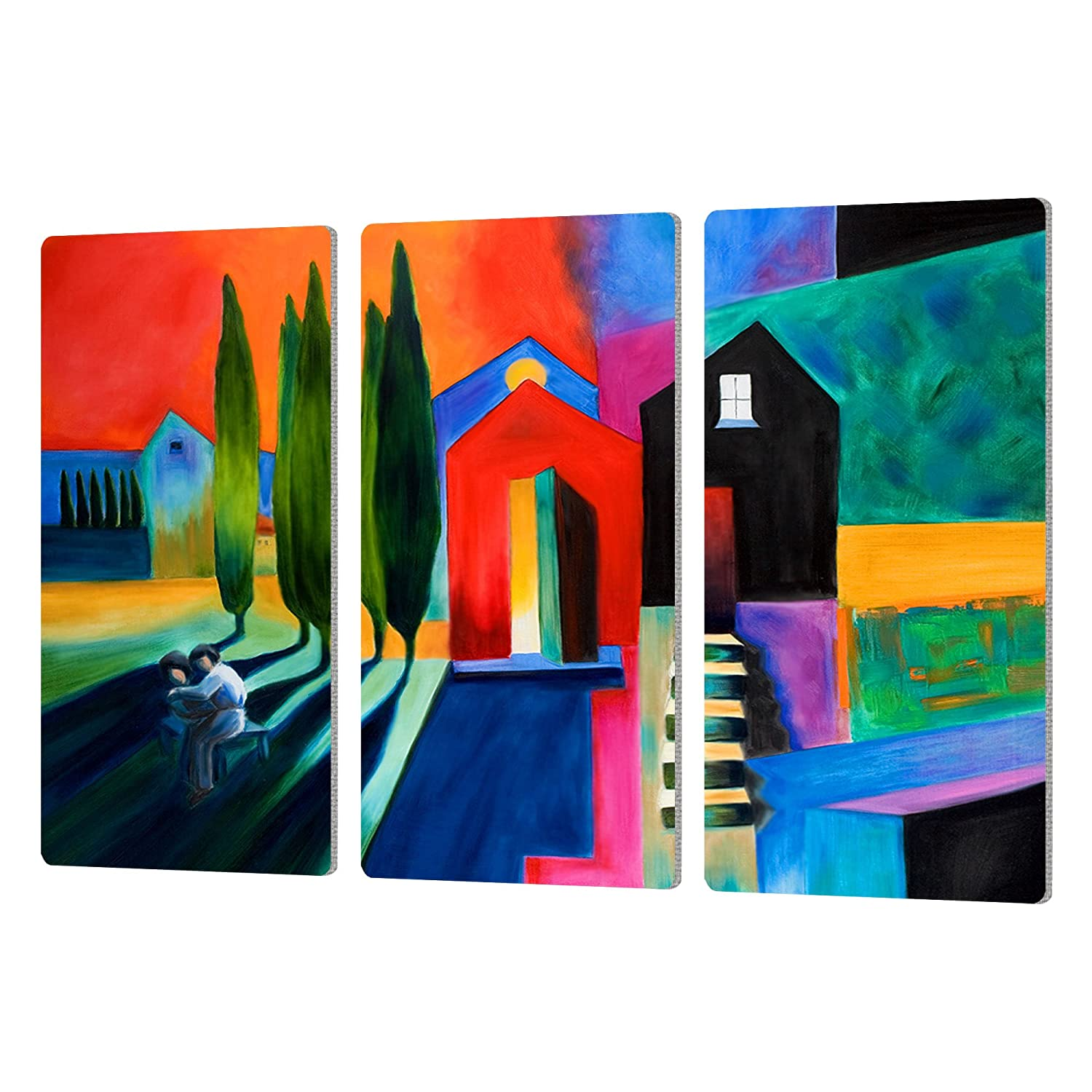 ArtWall Susi Francos Trying to Talk Her in to it Artmetalz 3 Piece Aluminum Print Set 24 by 36