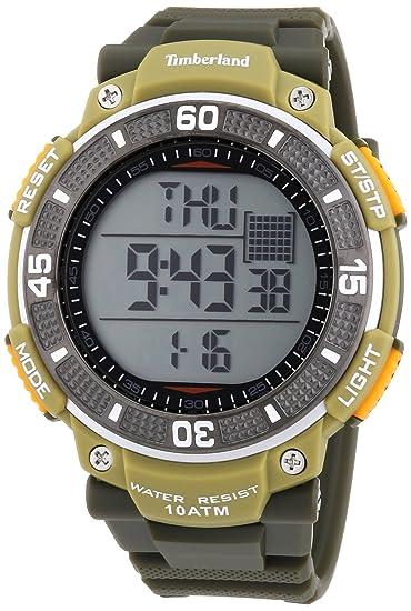 Timberland TBL.13554JPGNU/04 - Reloj digital de cuarzo para hombre con correa de plástico, color verde: Amazon.es: Relojes