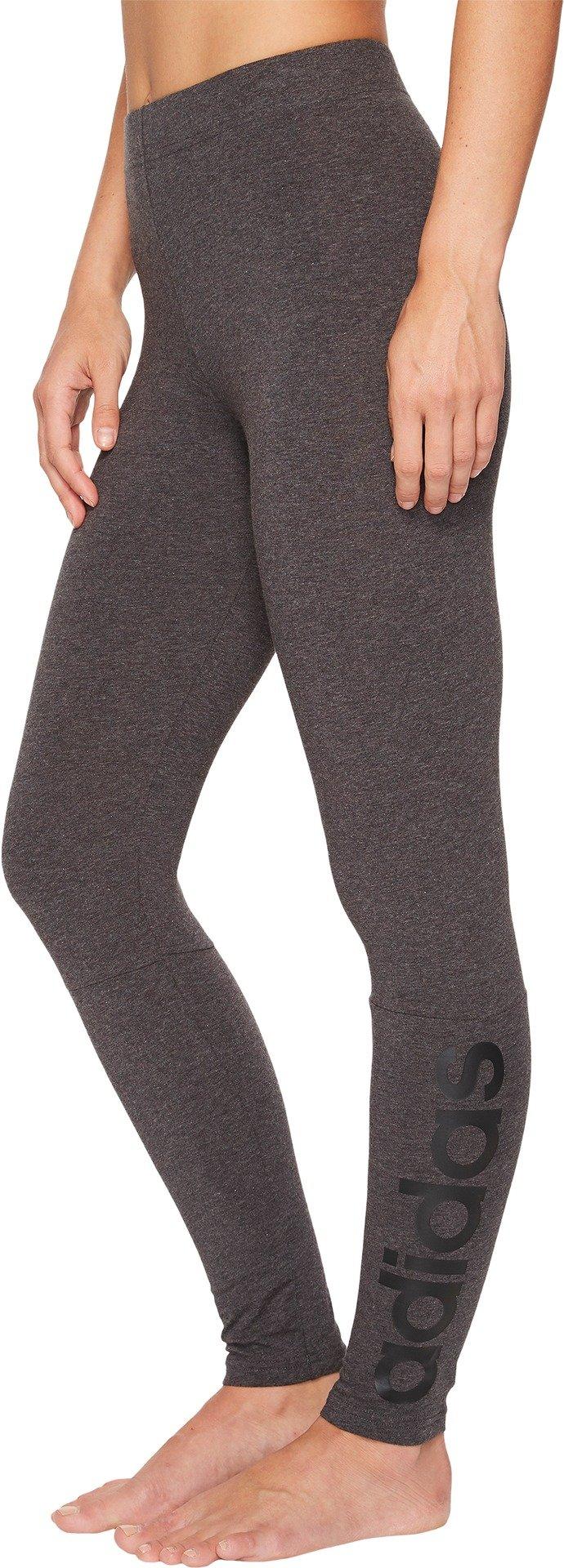 adidas Women's Athletics Essential Linear Tights, Dark Grey Heather/Black, X-Small by adidas