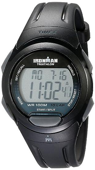 Timex T5K608 - Reloj de pulsera para hombres, correa de resina, color negro