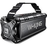 Bluetooth Speaker Loud 50W Punchy Bass, W-KING IPX6 Waterproof Portable Bluetooth Speaker with 8000mAh Power Bank, Bluetooth