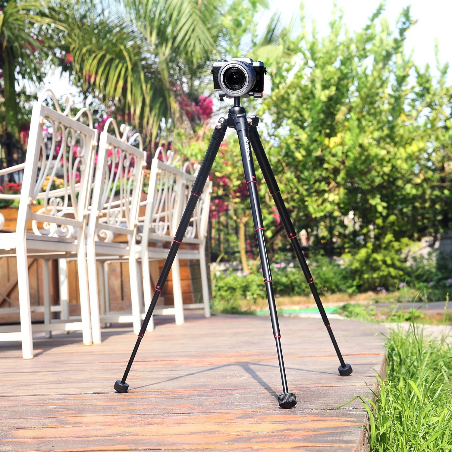 """VILTROX Lightweight Tripod 9.6""""-24.4"""" Portable Foldable Travel Compact alloy Mini Tripod table tripod With Ball Head, fit easily into bag"""