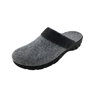 Gezer Damen Hausschuhe Pantoffeln Clog Grau Filz Gr. 36-42 Neu Grau 37 1vhKDrkst