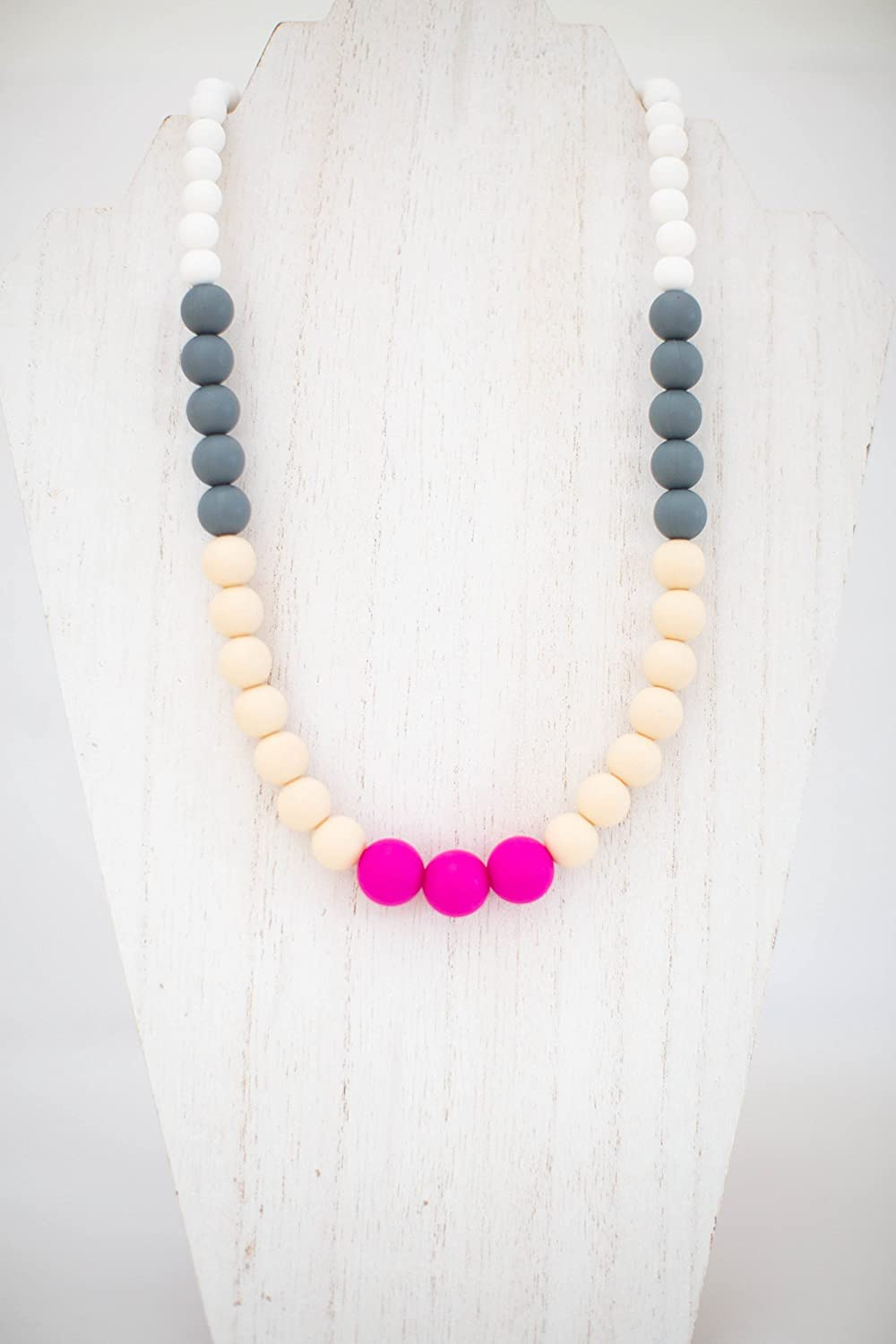 Chewby Chewelry Urban Rose Teething Necklace for Moms and bubs - Silicone chew Jewelry - Oral Sensory aid teether Necklace - Baby and mom