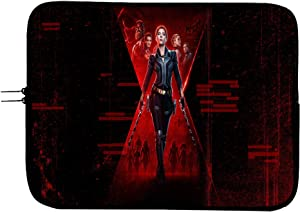 Black Widow Superhero 15 Inch Laptop Sleeve Bag Laptop Case with Mousepad Surface - Protect Your Device in Style Superhero Computer Bag Laptop/Tablet Sleeve Protector