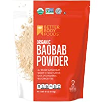 BetterBody Foods Organic Baobab Powder with Electrolytes, Iron, and Vitamin C (6 oz.)