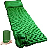 POPCHOSE Camping Sleeping Pad with Air Pillow Compact Ultralight Inflatable Camping Mat Built in Pump, Extra Thickness Durabl