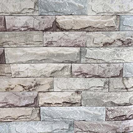 Rock Wallpaper H2mtool Removable 3d Brick Wallpaper Peel And Stick 17 7 X 78 7 Rock Brick