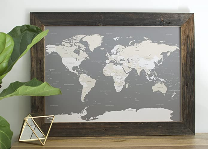small reclaimed world map push pin travel map map framed world map in