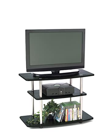 Amazing Convenience Concepts Designs2Go 3 Tier TV Stand For Flat Panel Television  Up To 32