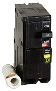 Square D by Schneider Electric QO220GFICP QO Qwik-Gard 20-Amp Two-Pole GFCI Breaker