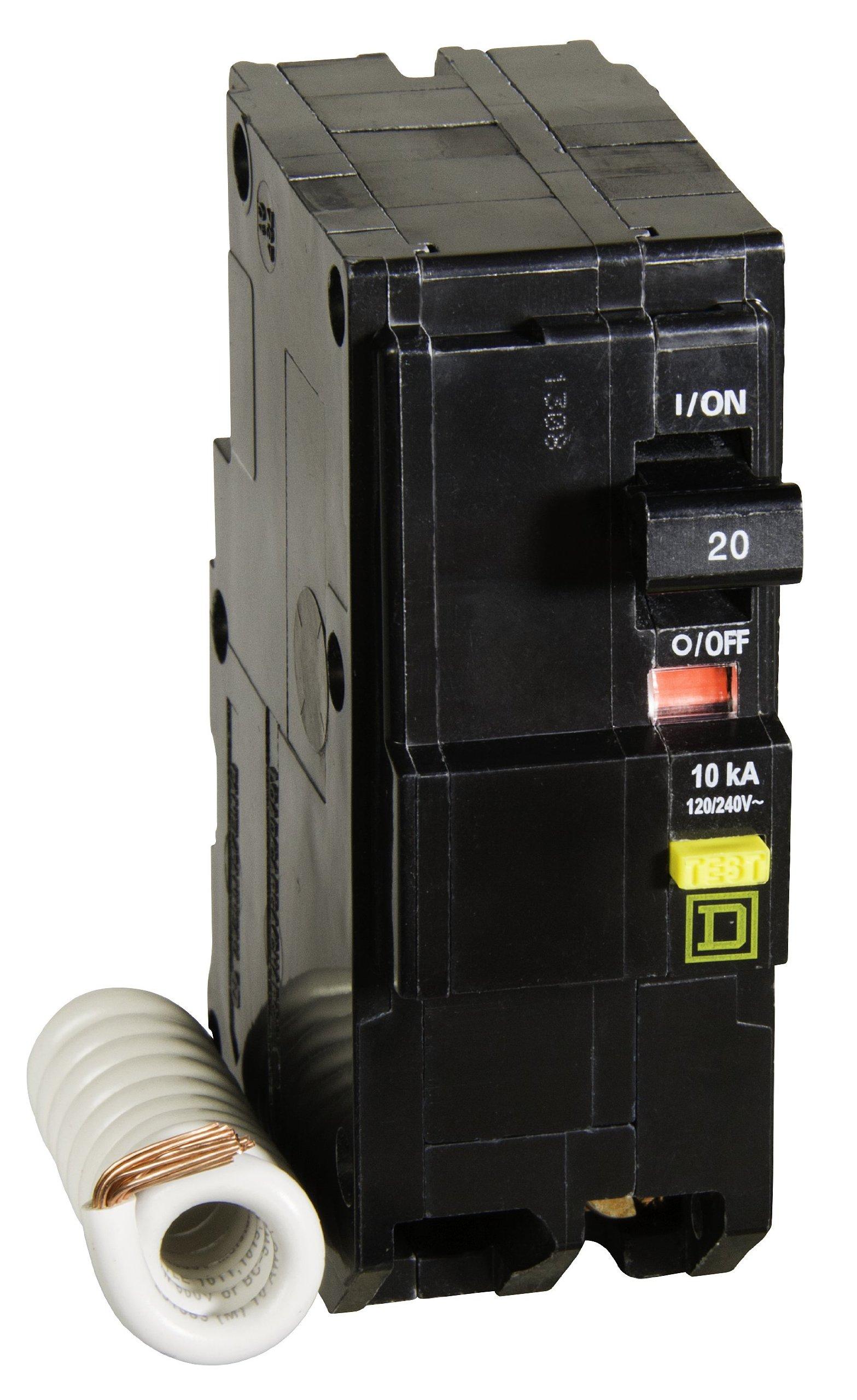 Square D by Schneider Electric QO220GFICP QO Qwik-Gard 20-Amp Two-Pole GFCI Breaker