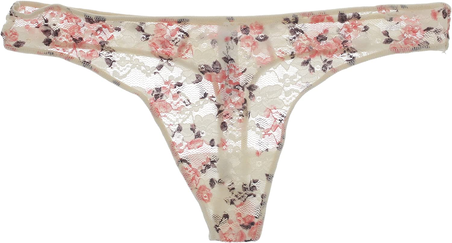 Pink 3 Pr Floral White Marilyn Monroe Intimates Womens Lacey Thong Panties Mauve