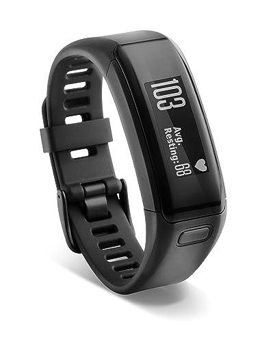 Garmin Vivosmart HR Activity Tracker with Smart Notification and Wrist Based Heart Rate Monitor - Regular, Black