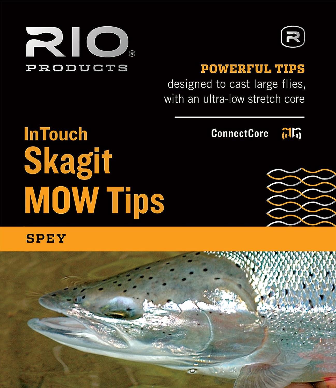 RIO Fly Fishing InTouch Skagit MOW, Medium Tip, 7.5' T-11/2.5' Float Fishing Line, Black/Green