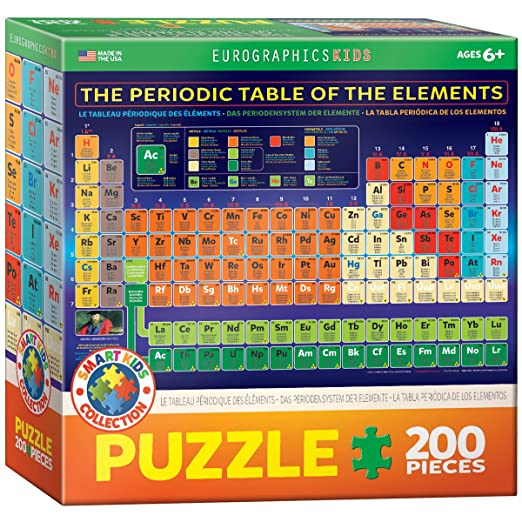 amazoncom eurographics periodic table of elements jigsaw puzzle 200 piece toys games