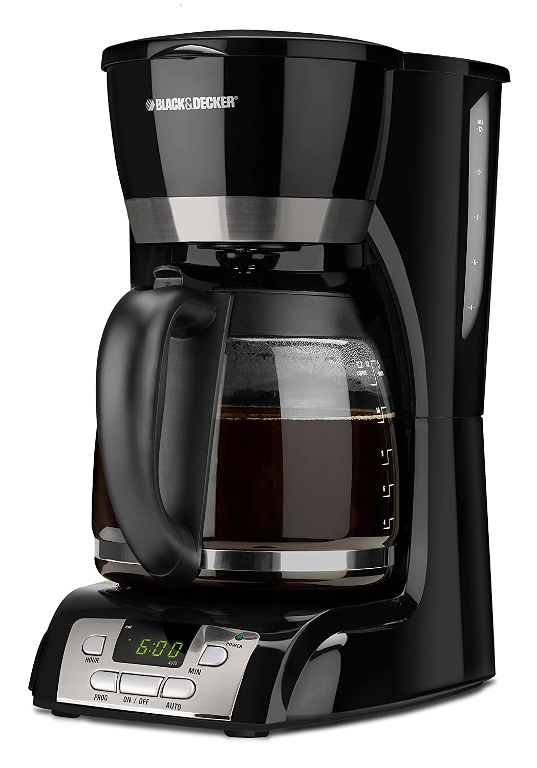 Black and decker coffee maker 12 cup programmable - Amazon Com Black Decker 12 Cup Programmable Coffeemaker Black With Stainless Steel Accents Dcm2160b Drip Coffeemakers Kitchen Dining