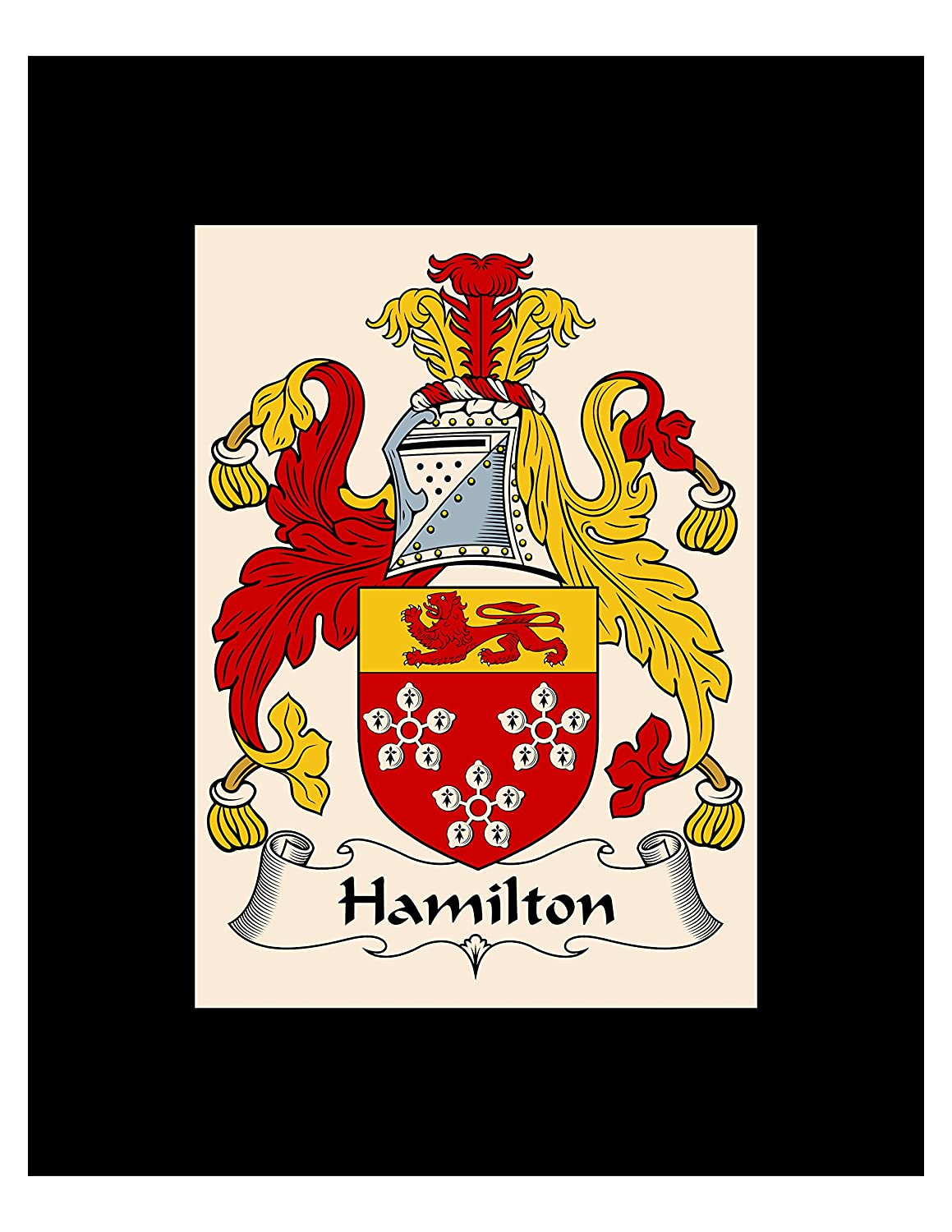 Amazon.com - Carpe Diem Designs Hamilton Coat of Arms/Hamilton Family Crest 8X10 Photo Plaque, Personalized Gift, Wedding Gift -