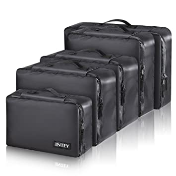 INTEY 5 Set Packing Cube For Travel, Waterproof Bags Luggage Organization  System For Backpacks,
