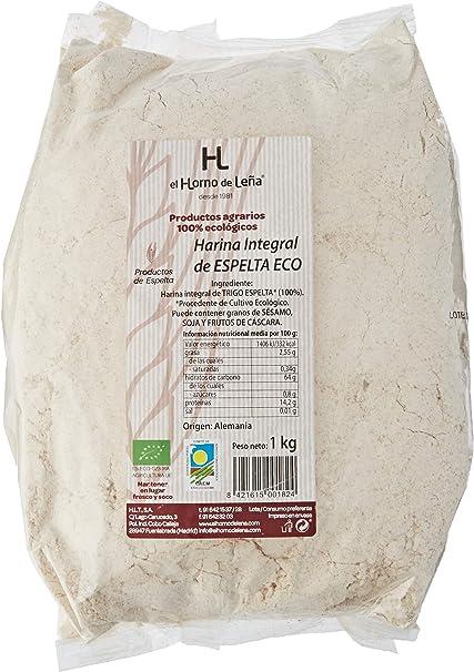 Horno de Leña Harina Integral De Trigo Espelta Eco 1000 g: Amazon ...