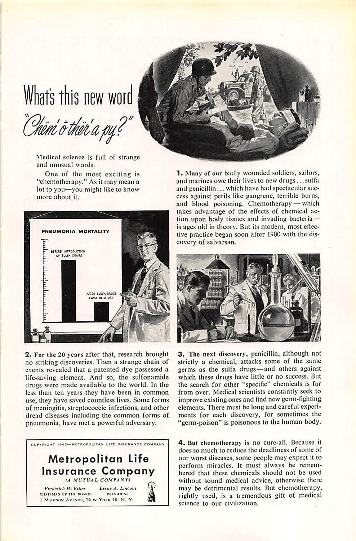 Amazon com: Print Ad 1945 Metropolitan Life Insurance What's