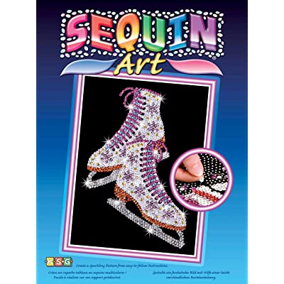 Sequin Art Blue, Ice Skates, Sparkling Arts and Crafts Picture Kit, Creative Crafts: Toys & Games