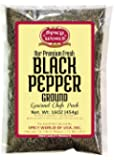 Ground Black Pepper Powder 16 Ounce (1 Pound) Bag - Table Grind - by Spicy World
