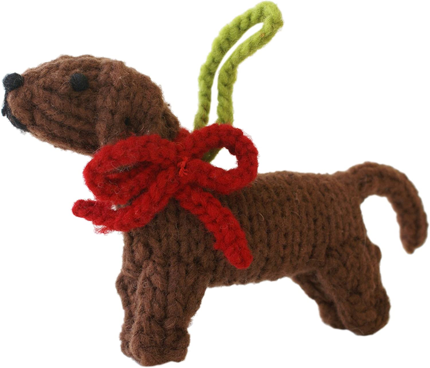 Chilly Dog Hand Knit Wool Fox Terrier Ornament